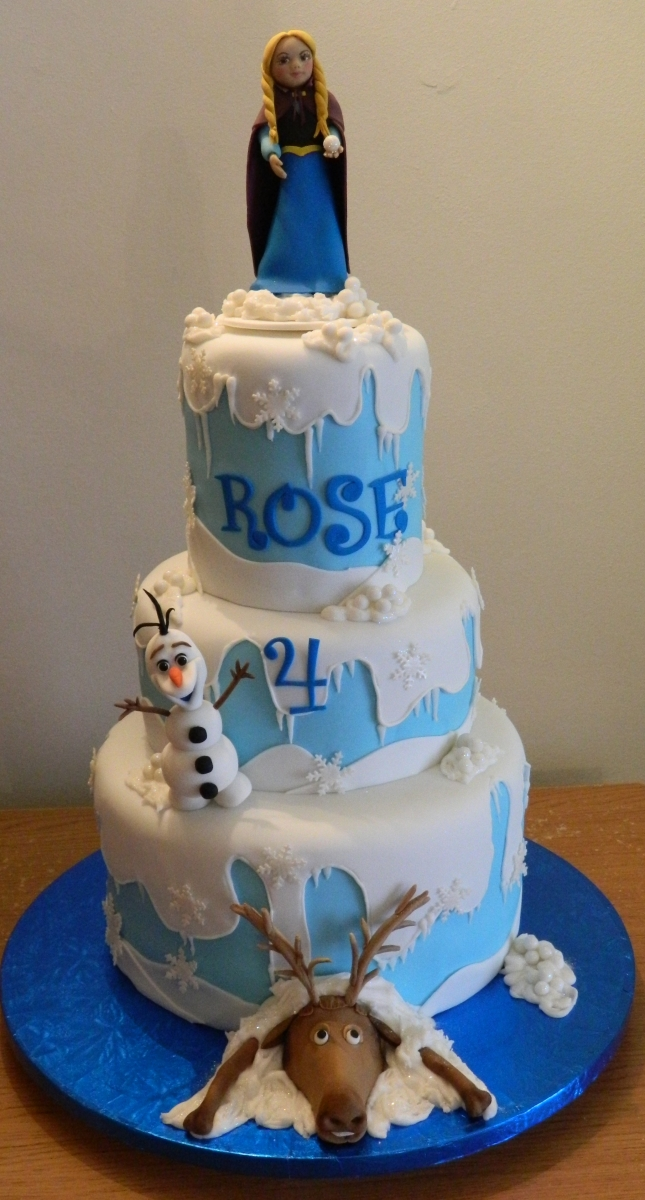 Frozen Temed Birthday cake