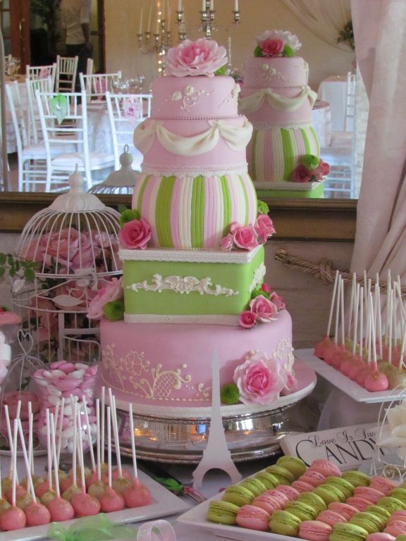 Cakes and confectionary wedding table